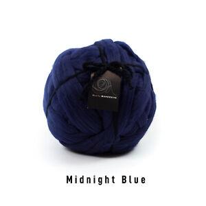 1kg Midnight Blue Mammoth®   Giant Super Chunky Extreme Arm Knitting Big Yarn