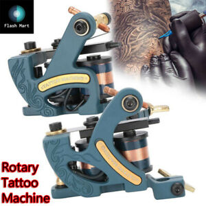 Rotary Tattoo Machine Gun Carbon Steel Liner Shader Coil Microblading NEWEST kit