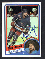 Mike Rogers #114 signed autograph auto 1984-85 Topps Hockey Trading Card
