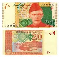 Pick 55j Pakistan 20 Rupees 2016  Unc. / 367544vvv