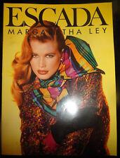 Vtg Escada fashion catalog 1990s Claudia Schiffer Carre Otis Elaine Irwin vogue