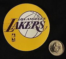 "Original 2 1/4"" LOS ANGELES LAKERS 1970's Round Sticker - Unused - NICE SHAPE!"