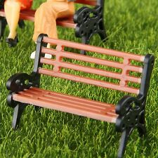 5x Model Park Benches Plain People Seat Diorama Train Scenery Layout 1:50 Scale