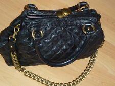 Luxus Damen Hand Tasche MARC JACOBS Stam echt Leder schwarz Gesteppt Bag groß