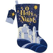"Bucilla Hallmark 18"" Felt Christmas Stocking Kit - O Holy Night with LED Lights"
