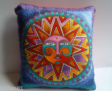 Mystical Sun & Moon Cushion Cotton Multicolour Velvet Back in organza gift bag