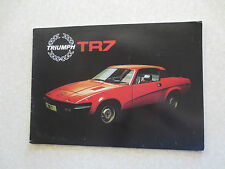 Original 1970s Triumph TR7 Sports car advertising booklet