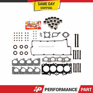 Set Bolts Head Gasket Lifters Fit 02-09 Kia Spectra Sportage Hyundai 2.0 G4GF