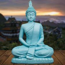 20cm High Feng Shui Resin Crafts India Buddhism Buddha Statue Home Decoration Q2