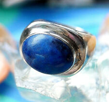 Extrem Massiv Silberring 55 Schlicht Lapis Lazuli Blau Pyrit Elegant Silber Ring