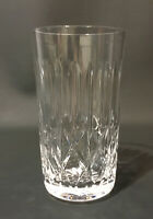 """Cross and Olive Art Deco Crystal Water~Juice Glass(s)~5 1/2"""" tall, 3"""" dimt 14 oz"""