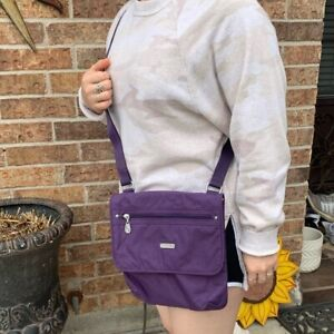 baggallini Crossbody purple  Pocket Bagg Zip