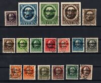 P135629/ BAYERN, OLD GERMANY – YEARS 1919 - 1920 USED SEMI MODERN LOT – CV 205 $