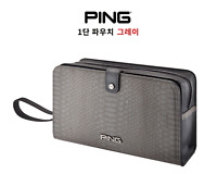 PING 2021 Premium Golf 1-Zippered Pouch Bag Pocket Gray Color Gift Accessory_UK