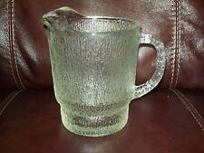 """""""Vintage"""" ~ Glass Pitcher ~ Rough Texture."""
