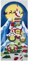 "Needlepoint Handpainted Raymond Crawford Christmas Santas Castle 19"""