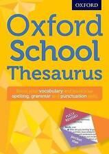 Oxford School Thesaurus Children English New Curriculum Support