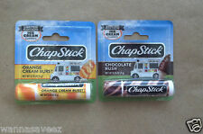2 Chapstick Lip Balm Ice Cream Classics Chocolate Rush & Orange Cream Burst LE