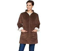 Denim & Co Wide Wale Corduroy Zip Front Jacket Chestnut Brown XL NEW A284542