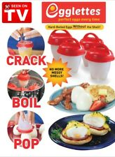 Egglettes Egg Cooker Hard Boiled Eggs without the Shell 4 Egg Cups As Seen On TV