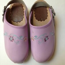 Hanna Andersson Girls Clogs Size 31/US 13~Lavender Floral