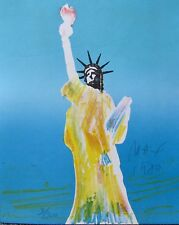 Peter Max STATUE OF LIBERTY 1980 Hand Signed Limited Edition Serigraph Art