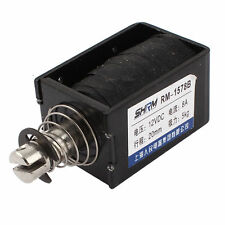 DC 12V 8A 20mm 5kg Force Open Frame Push Type Solenoid Electromagnet RM-1578B