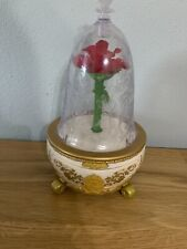 Disney Beauty And The Beast Enchanted Rose Jewelry Music Box *Lights Up!*