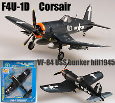 F4U-1D Corsair MK2 VF-84 USS bunker hill aircraft 1/72 plane finished Easy model