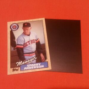 SPARKY ANDERSON Unique Magnet Actual 1987 Topps Card #218 Detroit Tigers
