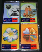 Set of 4: 'Write Me...Ring Me', Sealed Canada Stamps, Phonecards, Greeting Cards