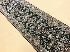 "2'.5"" X 15'.11"" Sarouk Persian Oriental Rug Narrow Long Runner Hand Knotted Wool"
