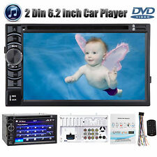 For Nissan Car Stereo Double 2 DIN Radio DVD CD Player FM/USB In dash Bluetooth