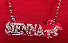 Name Plate Custom Name Necklace Nameplate Laser Cut Diamond Look Any Name, Word