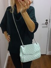 Rebecca Minkoff quilted leather AFFAIR chain shoulder bag crossbody mint NEW