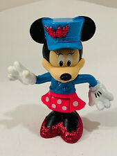 Disney Minnie Mouse 3inch Figure with Blue Hat and Glitter Shoes