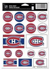 "(HCW) Montreal Canadiens Vinyl Sticker Sheet 5""x7"" Decals NHL Licensed FREE SHIP"