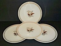 Cunningham & Pickett Oakdale Bread & Butter Plates Hand Decorated-Lot of 4!!