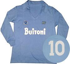 Maradona Napoli Buitoni Retro Shirt Long Sleeves 1987 Soccer Jersey