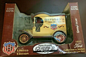 Gearbox New 1912 Ford Delivery Car Hershey's Chocolate Locking Bank Vintage