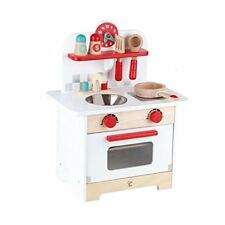 Hape Kids Wood Gourmet Kitchen Play Set Pretend Toy(Red and White Retro)