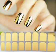 GOLDEN Colour Nail Sticker Metallic Glitter Nail Art Decal Attractive Nails