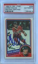 1984 O-PEE-CHEE #259 Chris Chelios Authentic PSA/DNA Certified Mint