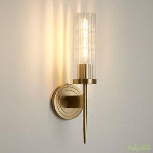 New Modern Bronze Wall light LED Wall sconce Glass Wall Lamp Bedroom lighting