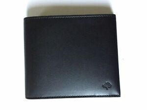 Mulberry Somerton 8 Card Wallet in Black Saddle Leather - BNWT in Original Box