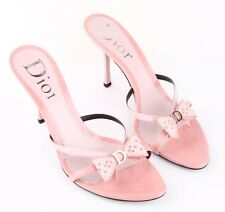 Dior Mules sandals in mixed patent leather in Pastel pink