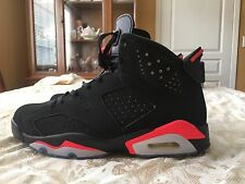 Pre Owned Air Jordan Retro 6 Black Infrared 2014 Release %100 Authentic size 12