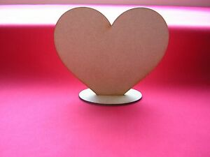 15cm / 150mm FREE-STANDING  HEART x 3   - LASER CUT MDF WOODEN  SHAPE