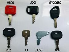 7 Keys John Deere Heavy Equipment / Construction Ignition Key Set