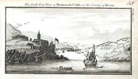 DEVON DARTMOUTH  CASTLE Original Antique Copper Engraved Print  c1770